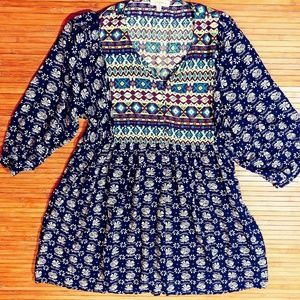 Umgee Boho Tunic Top Size XL